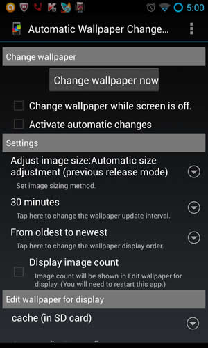 automatic wallpaper changer 3 screenshot 1