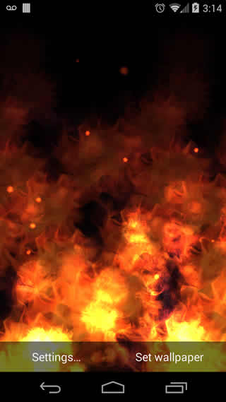KF Flames Free Live Wallpaper screenshot 3