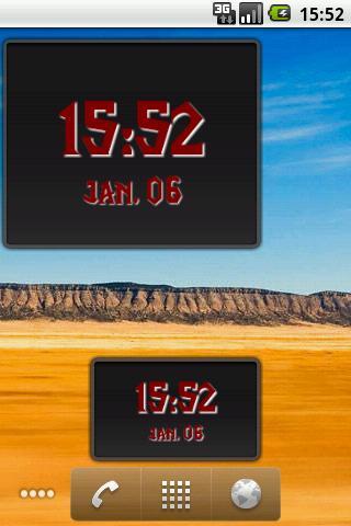 Digital Clock Widget screenshot 1