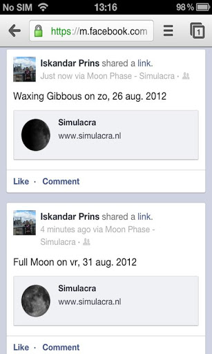 Moon Phase screenshot 1