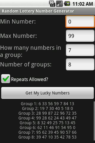 Random Lottery Number Generator for Android Free Download - 9Apps
