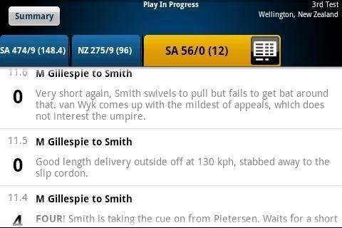 Yahoo Cricket screenshot 6