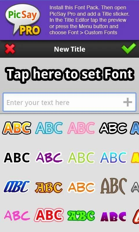 Download PicSay Pro Font Pack - A for Android Free Download - 9Apps