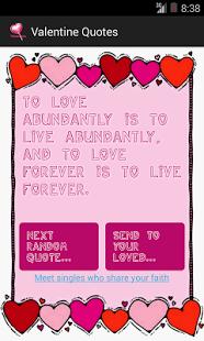 Valentine Quotes screenshot 2