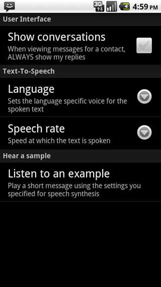 SMS Speak screenshot 1