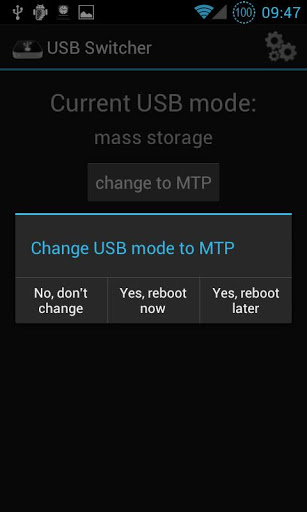 USB mode switch for SGS1 on CM screenshot 1