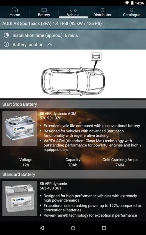 VARTA® Battery Finder screenshot 1