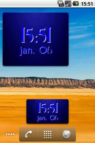 Digital Clock Widget screenshot 2