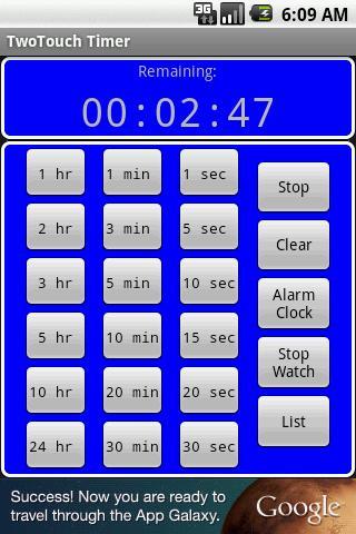 TwoTouch Timer & Alarmclock screenshot 4