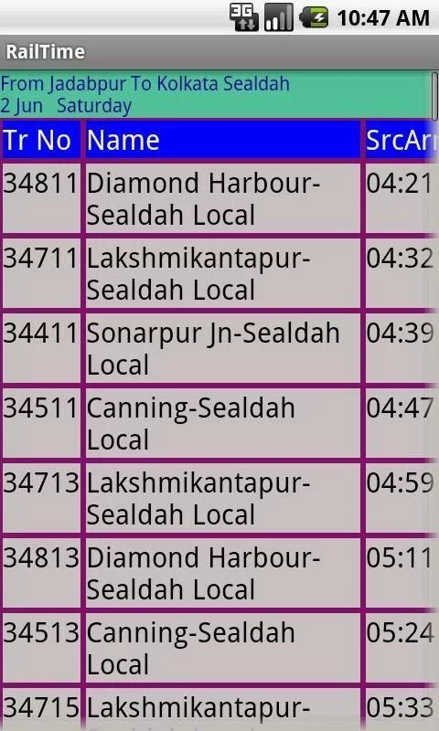 Kolkata Suburban Trains screenshot 4