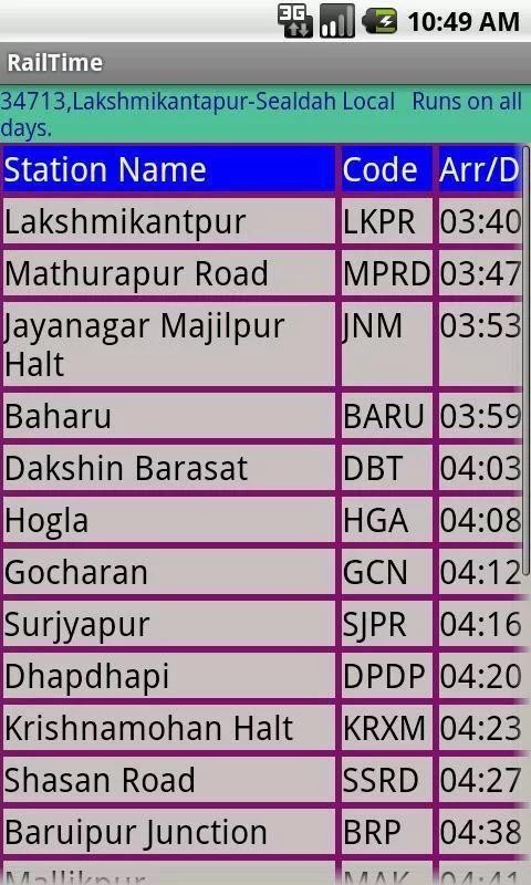 Kolkata Suburban Trains screenshot 5